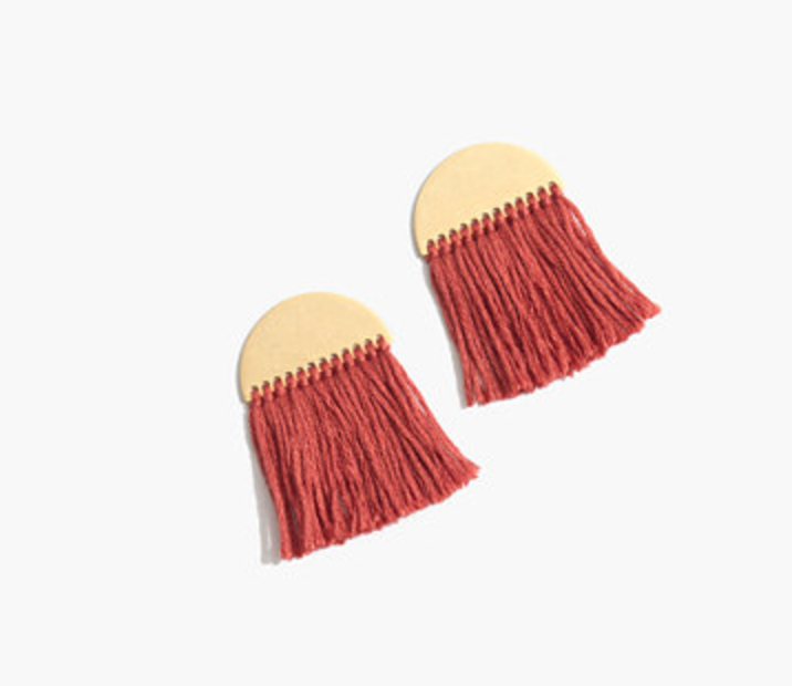 These Madewell earrings are so unique. I love them! I can wear them to brunch, and all three dinners!