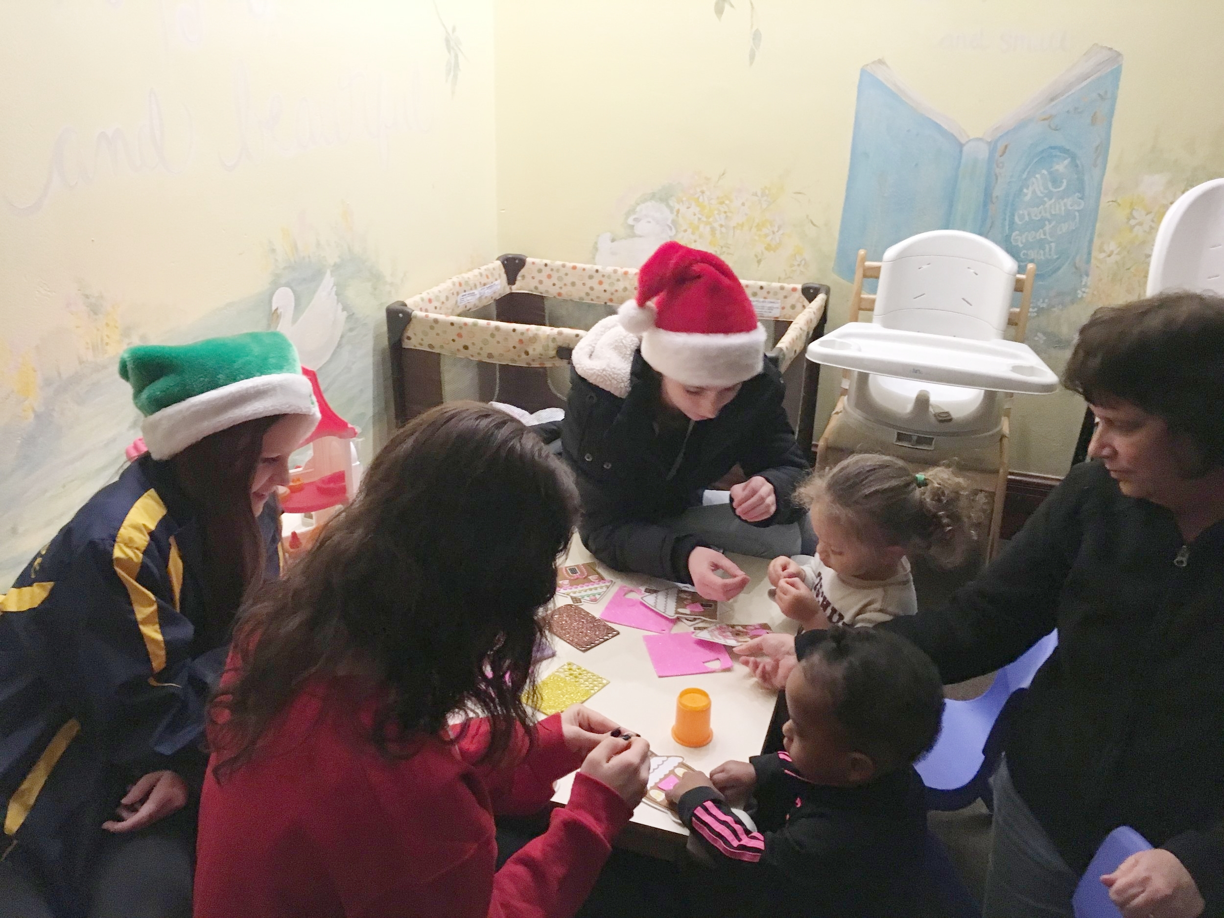 Junior Auxilary members assisting in our daycare
