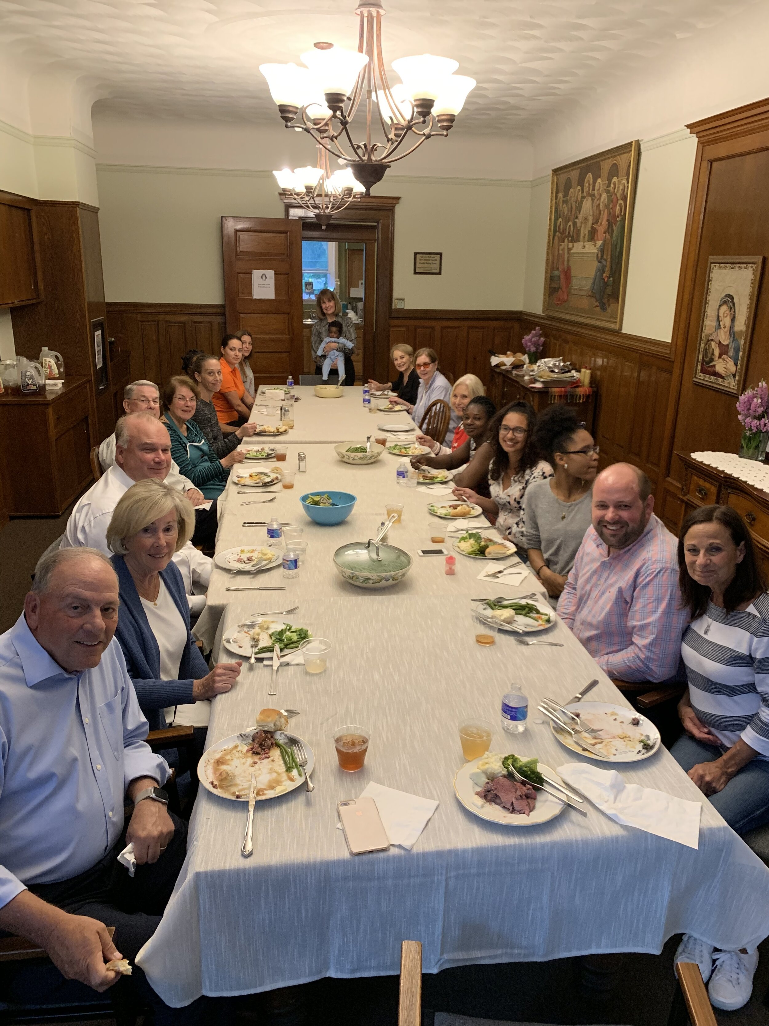 The Knights and Dames of the Order of Malta prepared a spectacular dinner for all of us at Joseph's House!