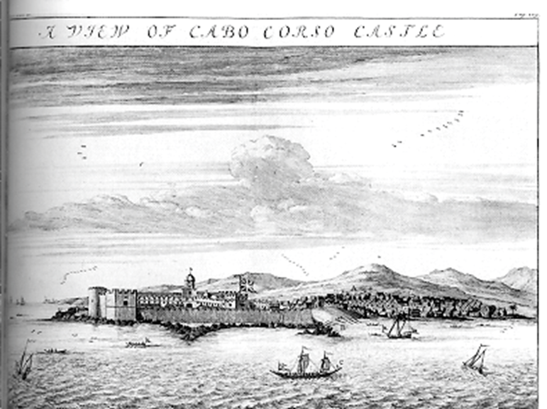 17th C drawing shows where boast left carrying slaves to oceangoing vessels