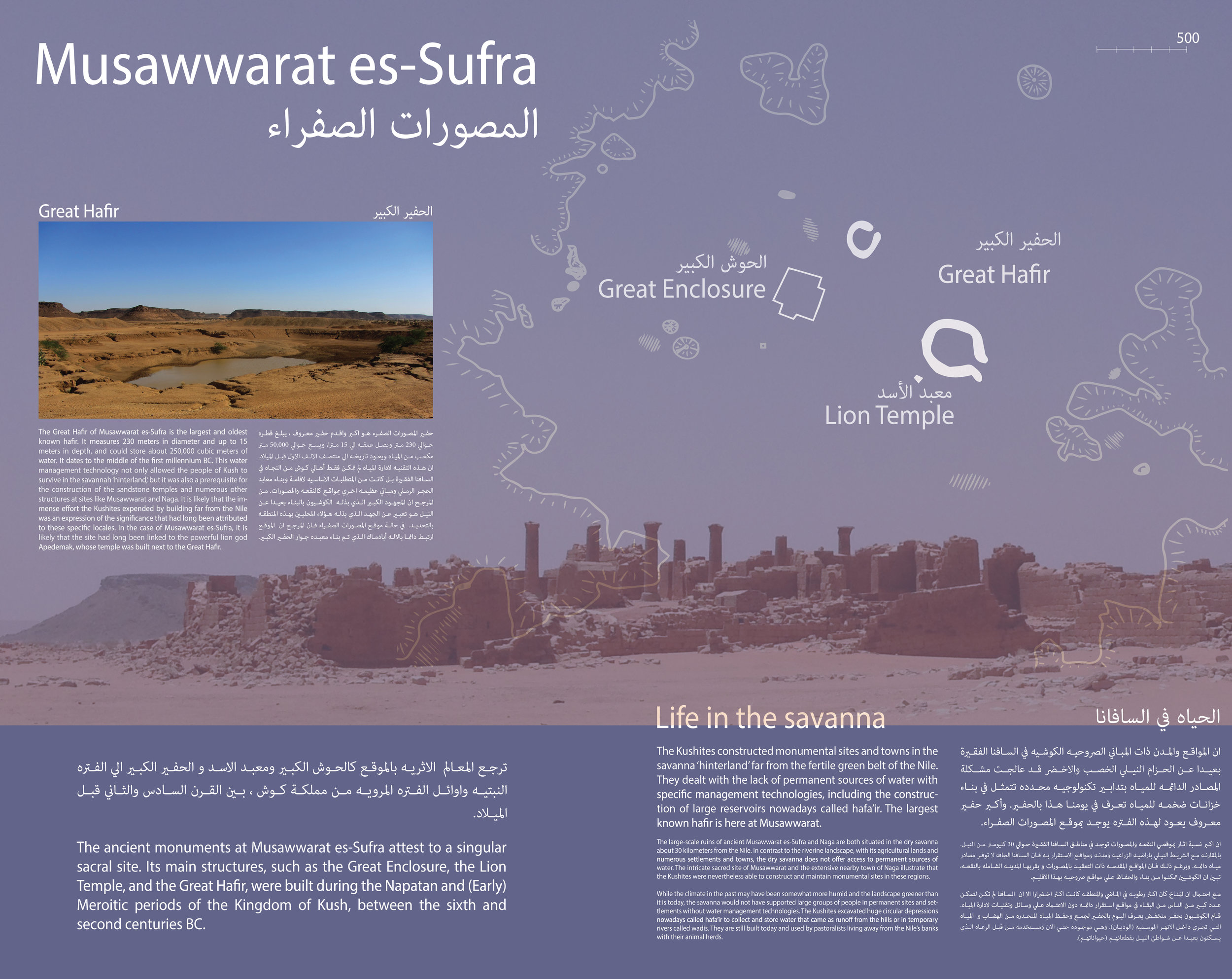 Interpretive Panel introducing the site of Musawwarat es-Sufra