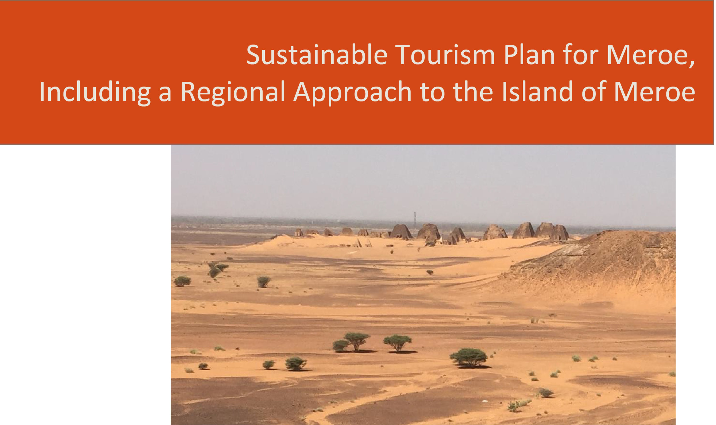 Title Page of the  Sustainable Tourism Plan