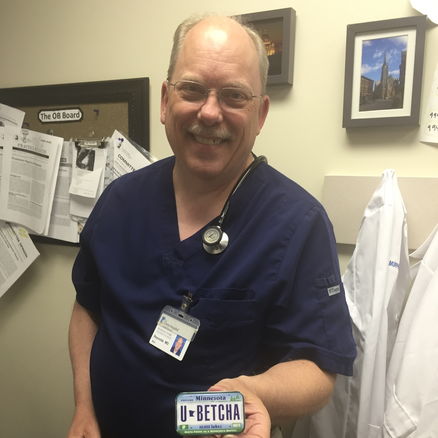 The man... the legend... the Reynolds... One of our preceptors who is often in procedure clinic.