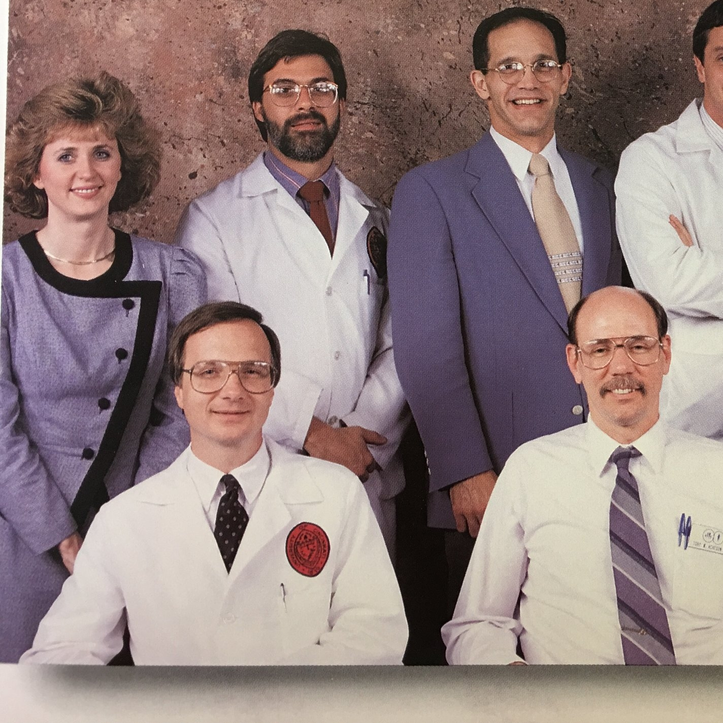 a residency celebration classic, note Dr. Diller and Judy- our scheduling queen- in the upper left hand corner