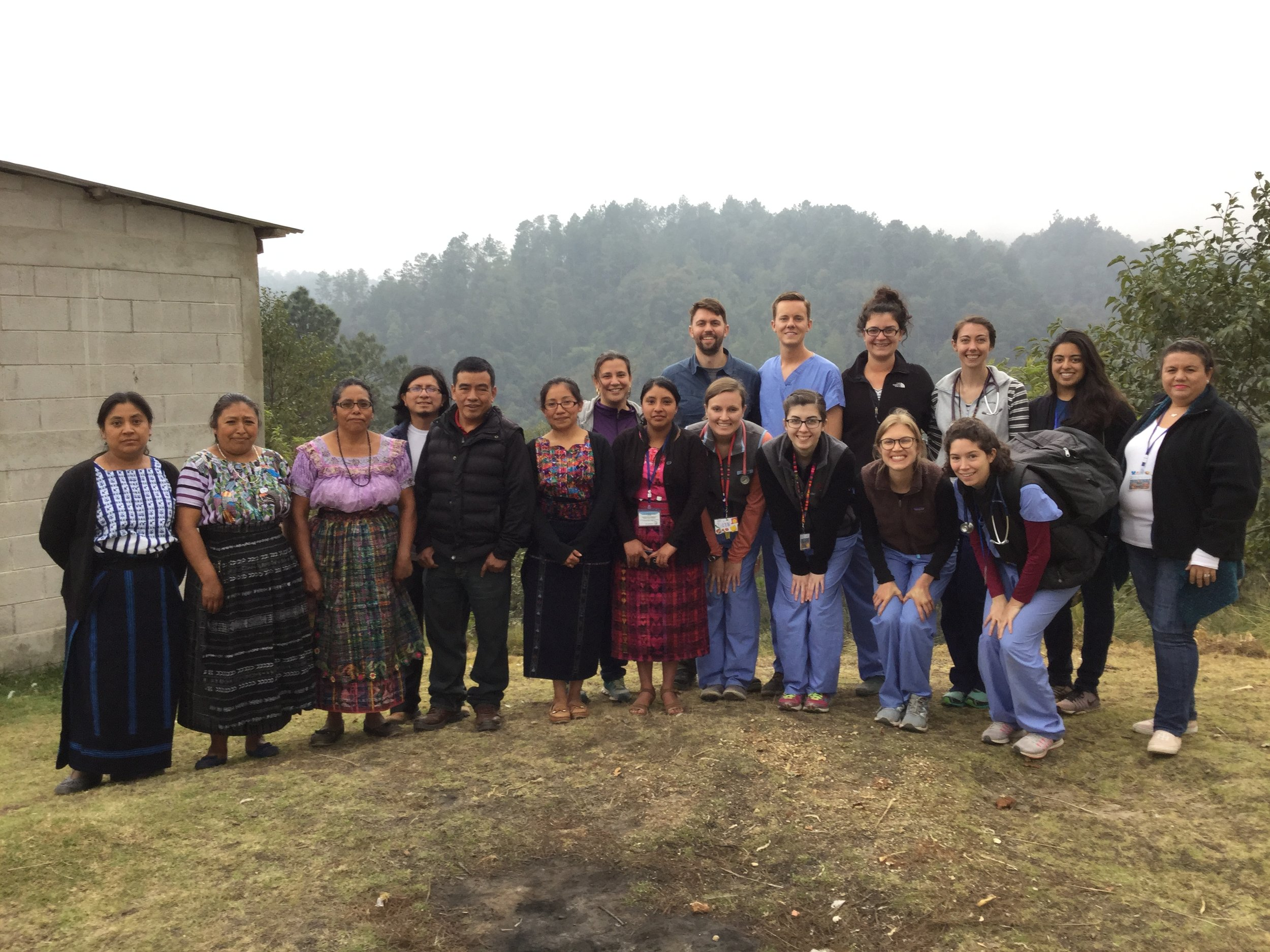 We encountered more Mayan language speaking people when working in the Guatemalan highlands outside of Tecapn and gained a better understanding of the inspiration behind the Mayan Health Alliance. With incredible interpreters and a strong team we were able to provide care in those native languages.