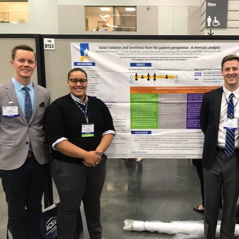 Drs. Julia Bedard Thomas  and  Christian Gausvik  continue our residency's excellence in geriatric care with a poster at this year's  AG S.