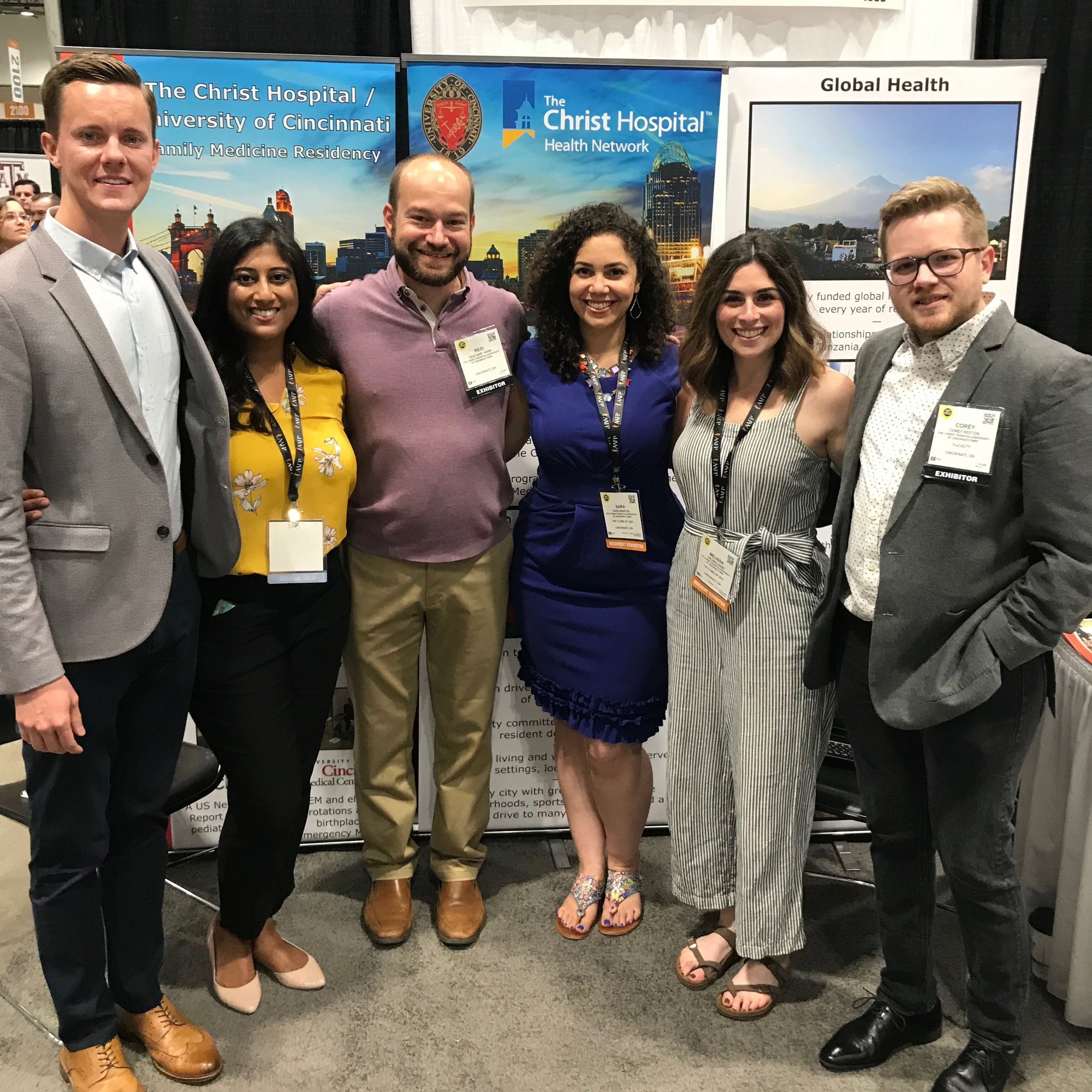 Christian Gausvik, Aruna Puthota, Reid Hartmann, Sara Maples, Melissa Saab and Corey Keeton representing our program at the national AAFP confern