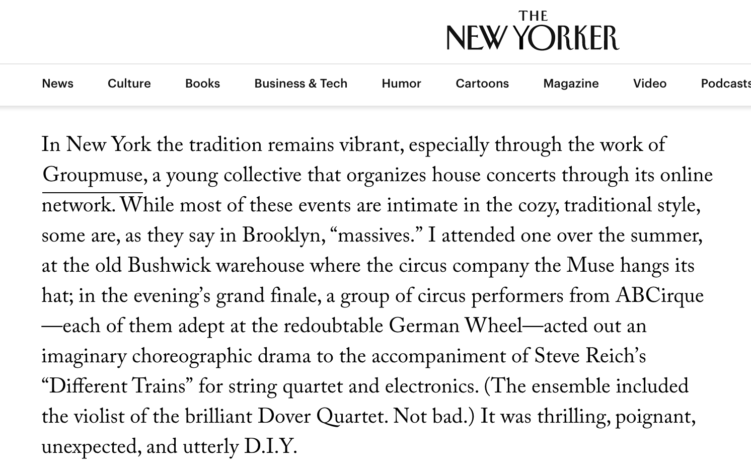 The New Yorker ABCirque