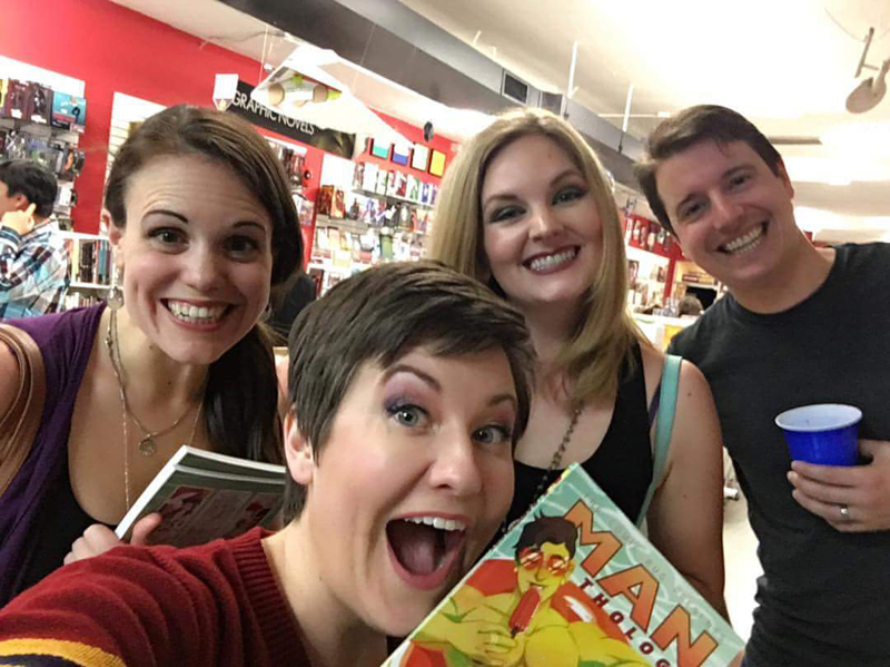 My amazing friends who attended the release party at The Comic Bug in Manhattan Beach! Thanks for coming out, y'all!