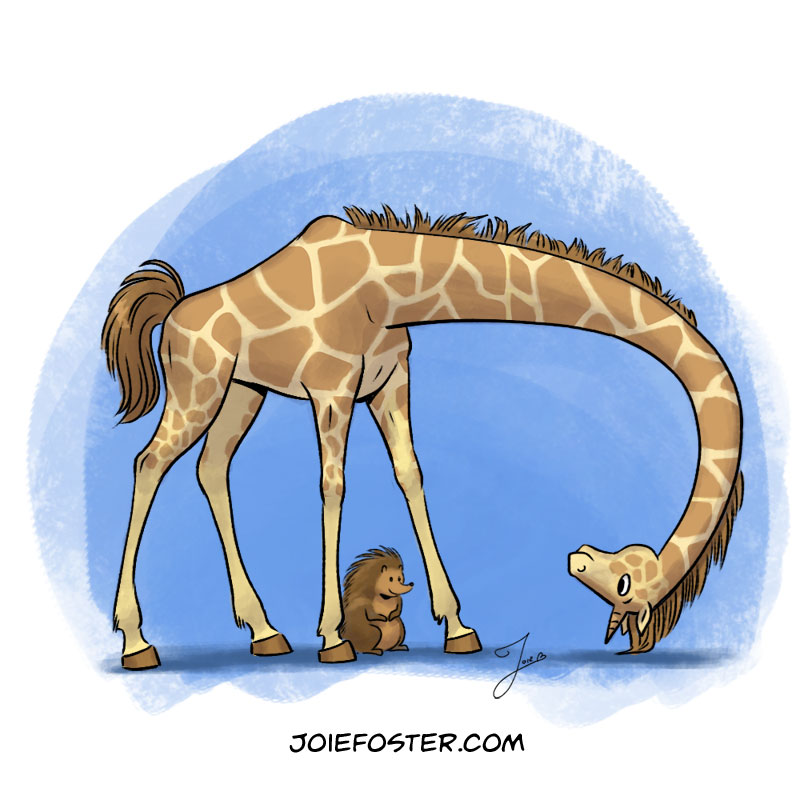 With a long neck and top-notch health insurance, the Giraffeicorn is a chiropractor's dream. Don't bother inviting her to your birthday party. Even if she could fit through the front door, she'd be terrible at limbo. Also, she can't read. You wasted an invitation.