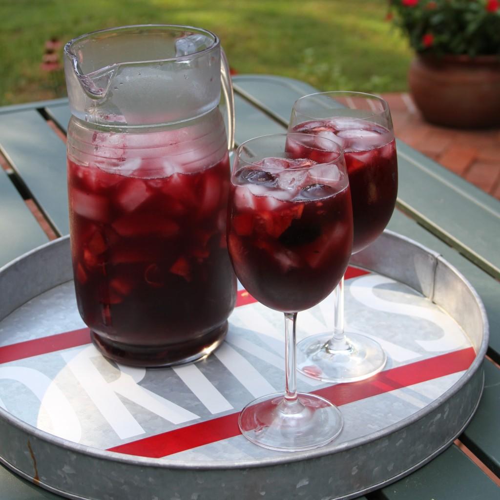 Cherry, Blackberry and Nectarine Sangria