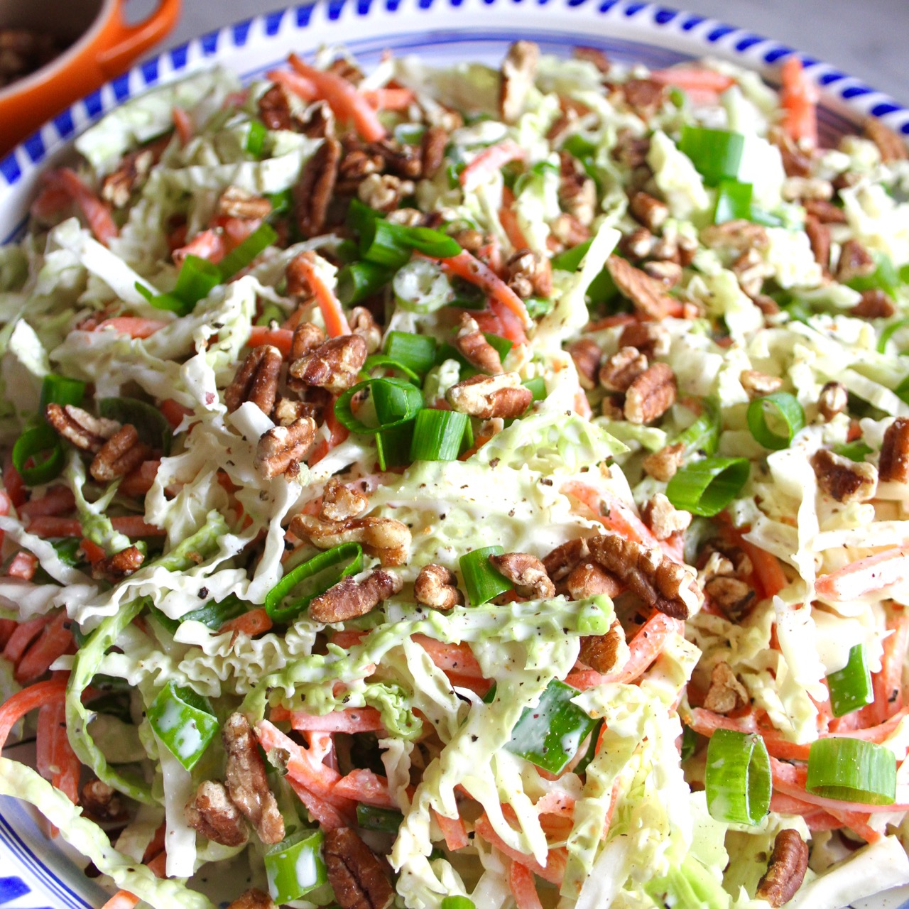 Buttermilk Coleslaw with Toasted Pecans
