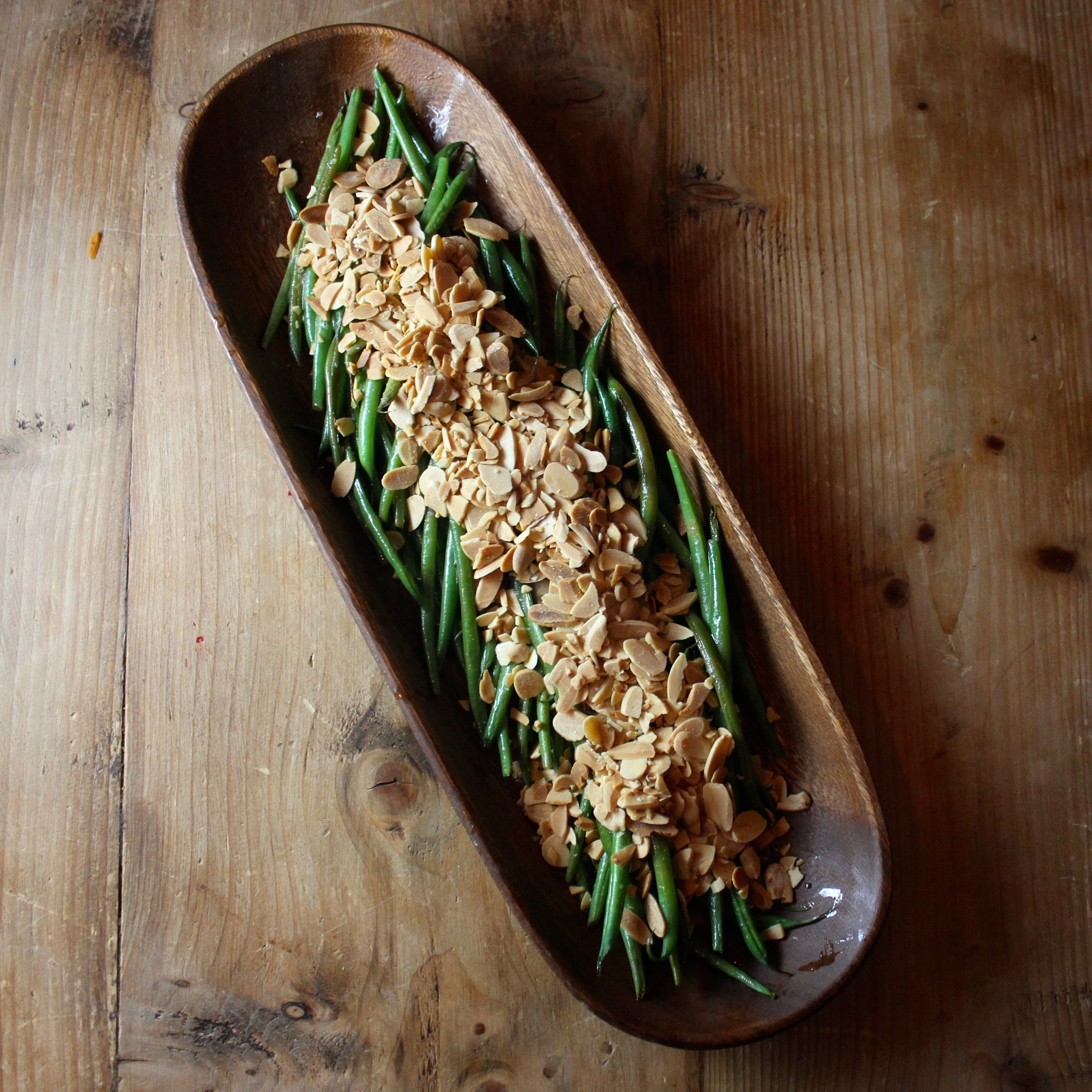 Haricots Verts with Lemon Brown Butter and Toasted Almonds