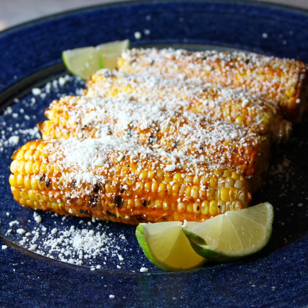 Grilled Corn Elote Style