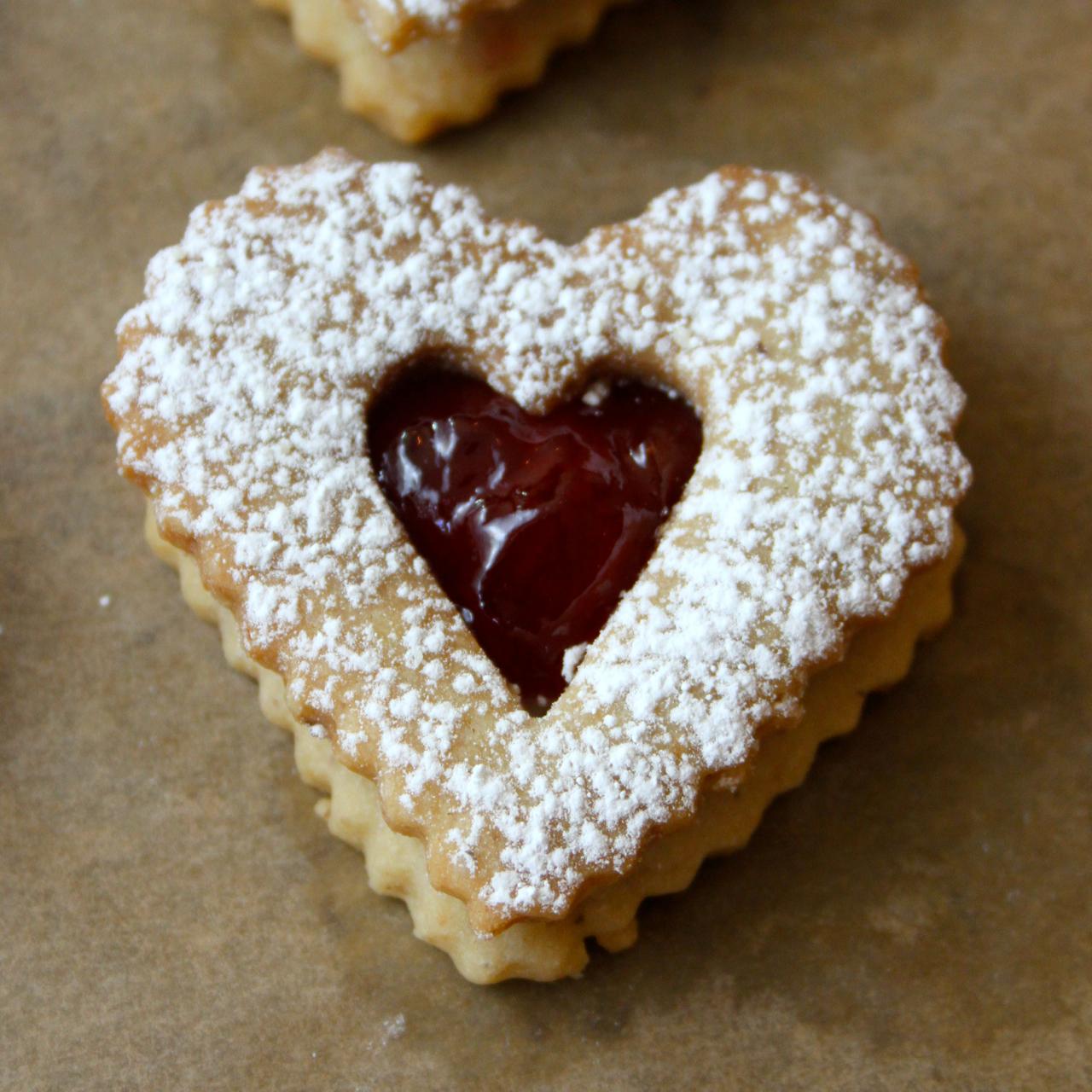 Cherry-Walnut Linzer Cookies