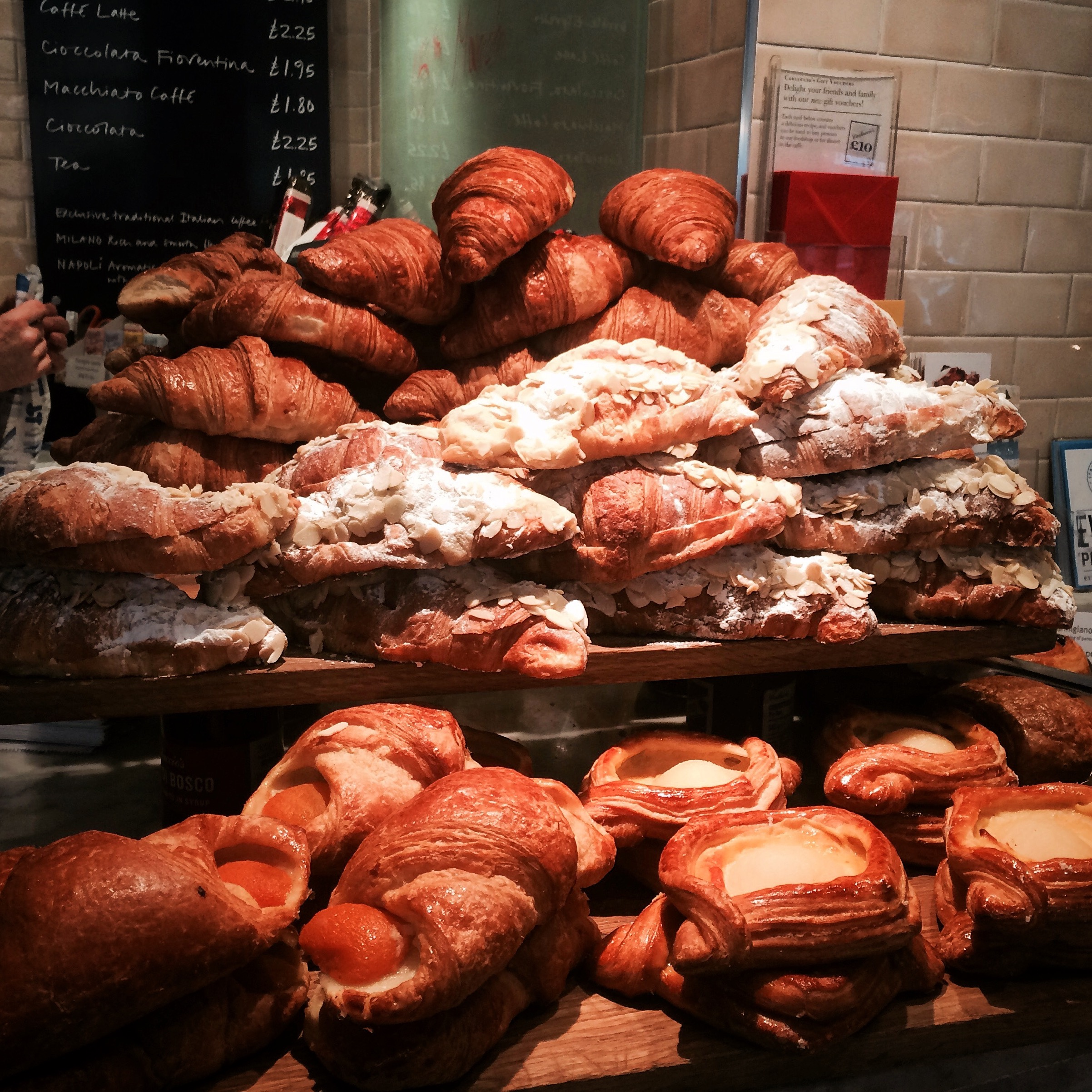 The Almond Croissants and friends at Carluccios
