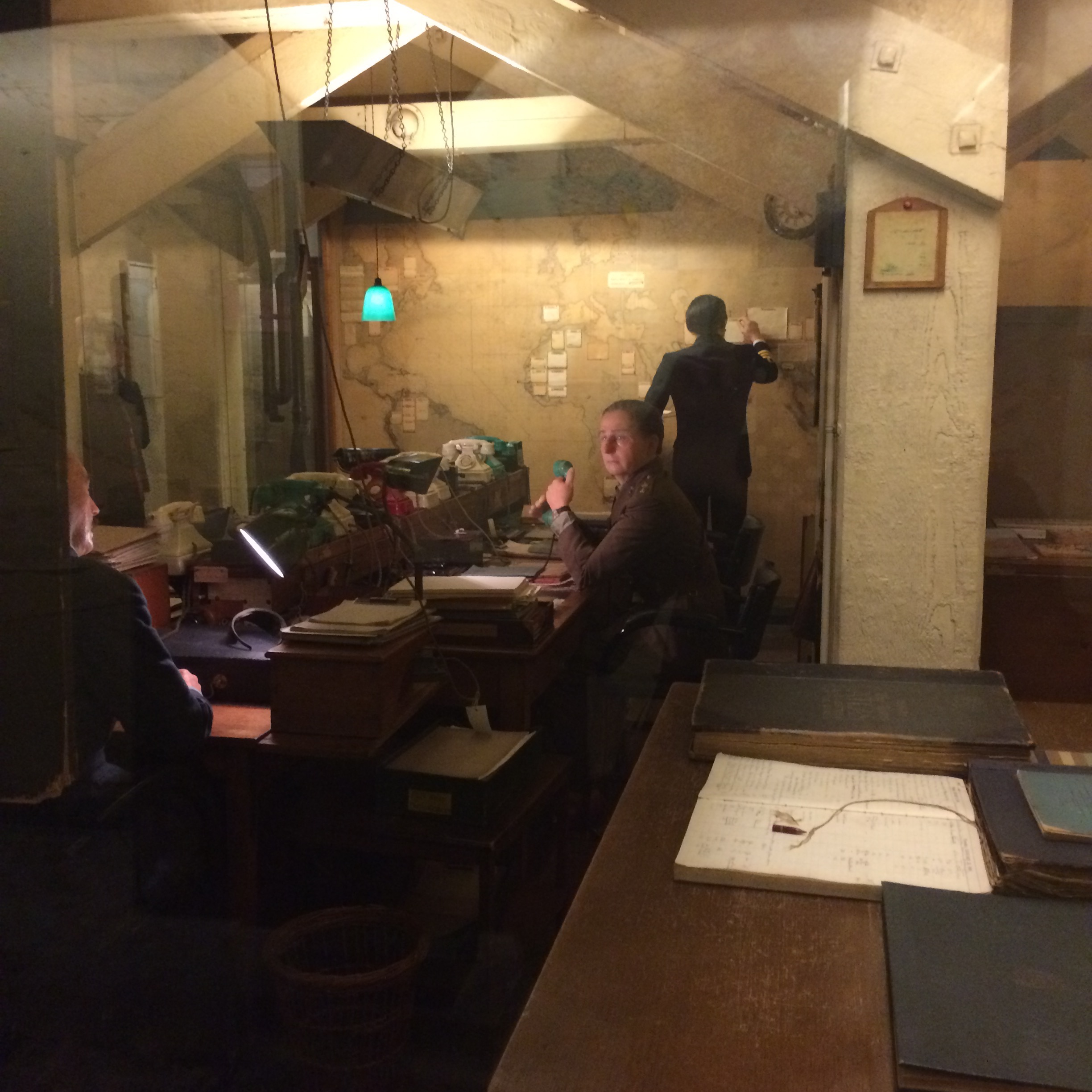 A display from the Cabinet War Rooms