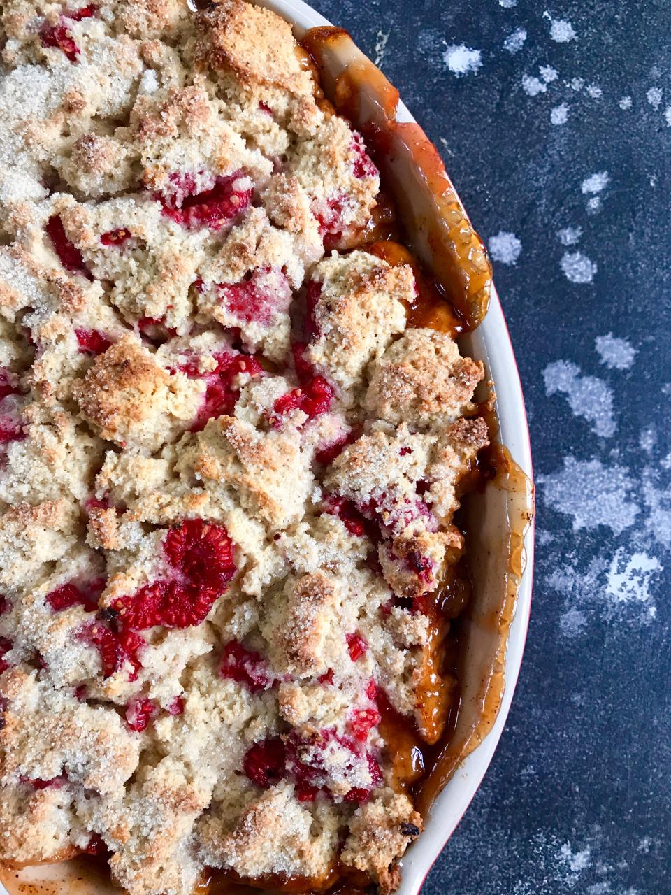 Peach Cobbler with Raspberry Cream Biscuits2.jpg