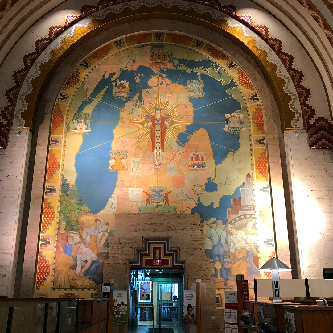 The Lobby/Bank in the Guardian Building in all it's Art Deco Glory