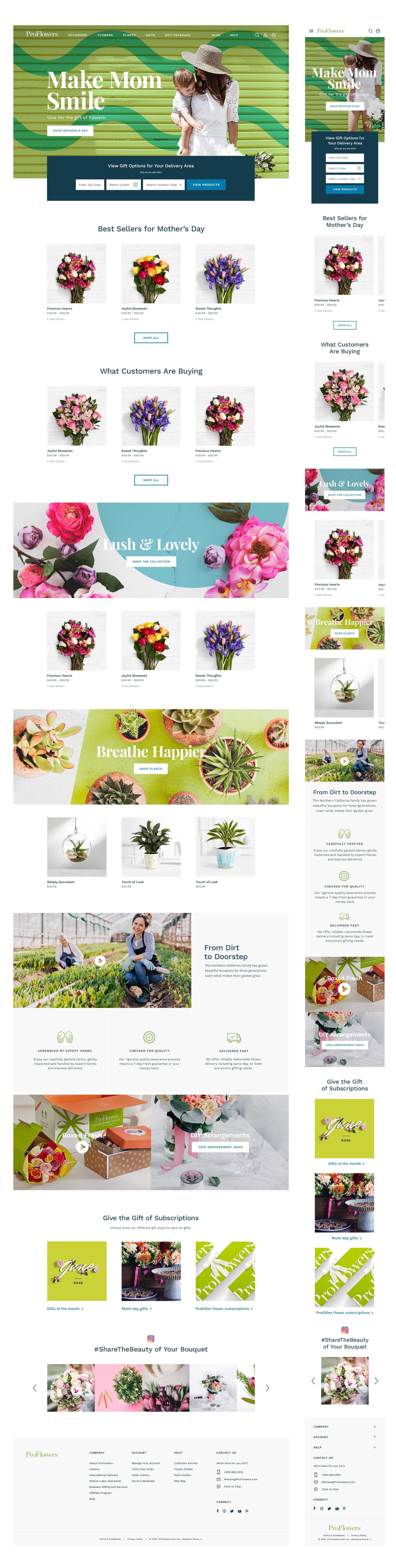 ProFlowers Homepage
