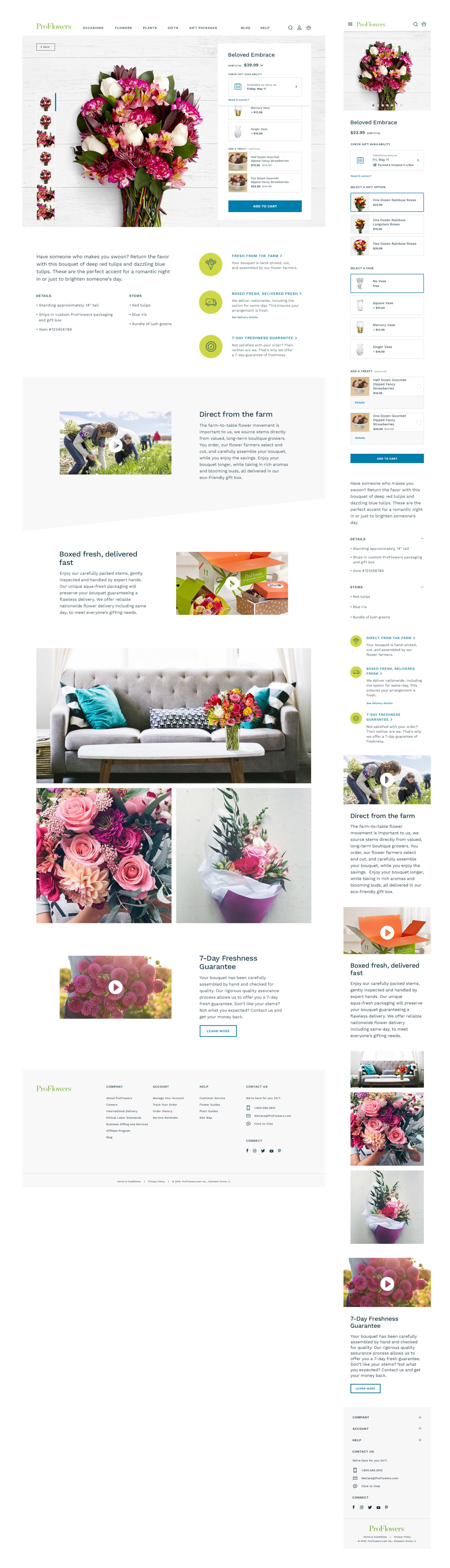 ProFlowers Product Page
