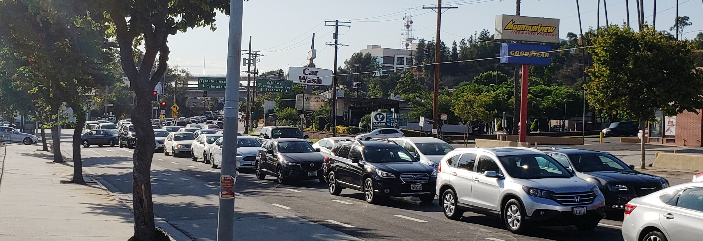 LA Metro is planning to take Colorado Blvd through Eagle Rock down to one lane in each direction. With two lanes this road backs up for miles, this is a typical evening commute on Colorado Blvd through Eagle Rock - LADOT's Traffic Count from 2012 says this road carries 46,000+ cars per day