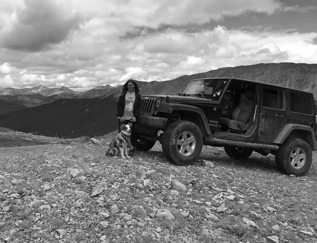 Above And Beyond.  When she's not at the BIG headquarters or performing R&D in the lab, you can find Jessica blazing her own trail with her Jeep, Ol' Bessy, and her Australian Shepherd, Rush.