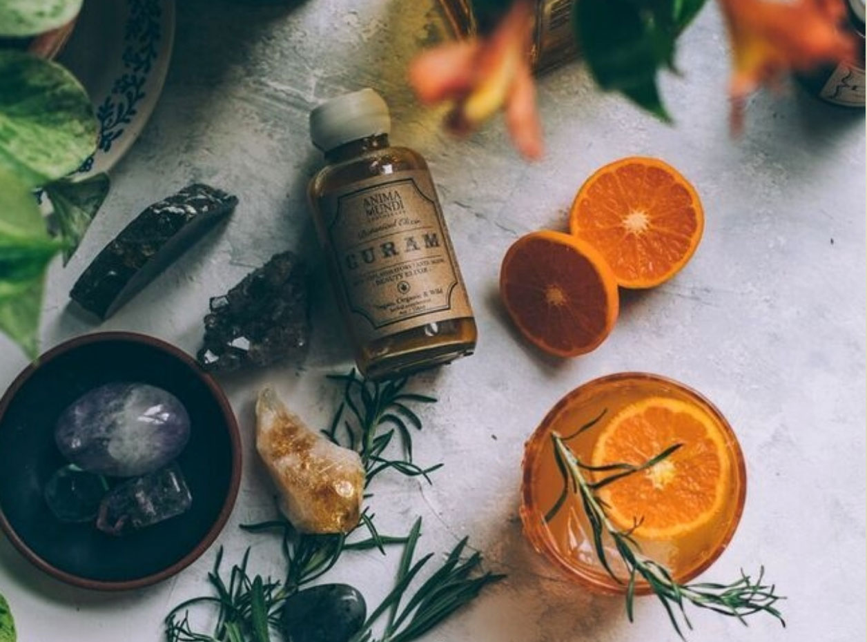 WHAT ARE SOME OF YOUR MOST POPULAR HERBAL OFFERINGS? - OUR BEAUTY TONICS ARE VERY POPULAR—THESE INCLUDE THE CURAM, COLLAGEN BOOSTER, AND MANGOSTEEN HIBISCUS. AND PEOPLE LOVE OUR COLLAGEN BOOSTER WHICH IS A GREAT OPTION FOR VEGANS, AND IN MY OPINION, THE BEST OPTION WHEN IT COMES TO COLLAGEN BECAUSE YOU ARE BOOSTING YOUR OWN COLLAGEN PRODUCTION RATHER THAN TAKING IN COLLAGEN FROM A SOURCE OUTSIDE OF YOUR OWN.
