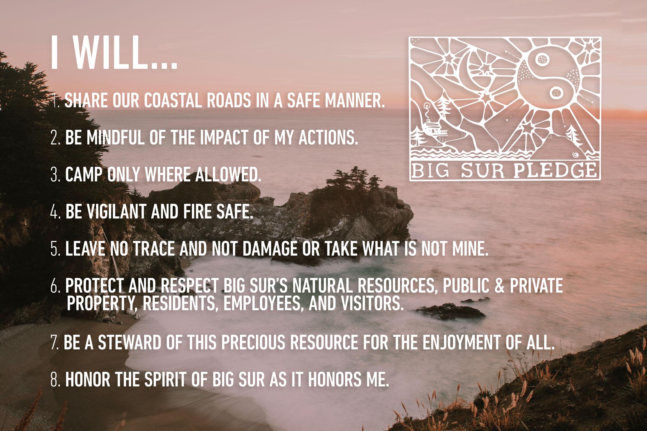 COMMUNITY - Please head to bigsurpledge.org and take the pledge
