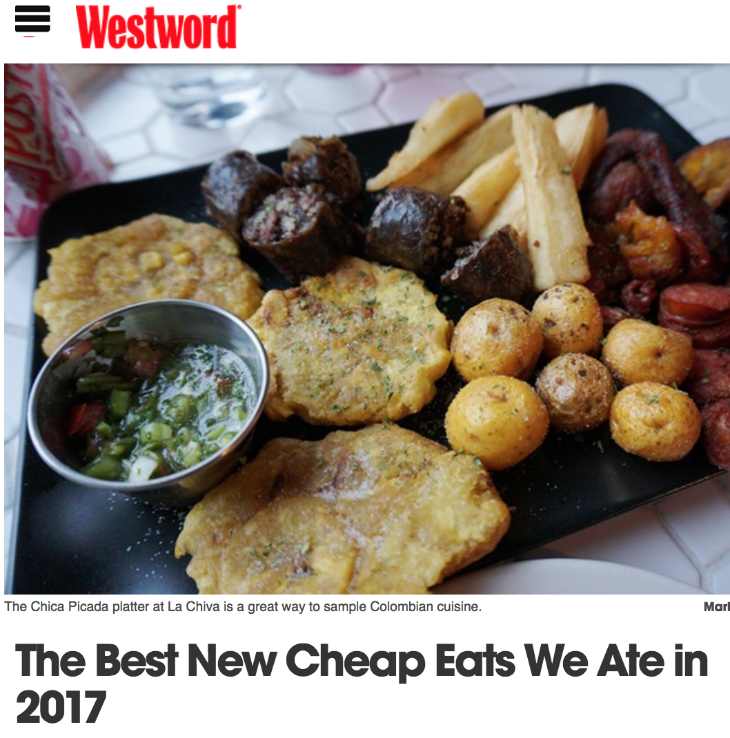 Westword: Best New Cheap Eats 2017