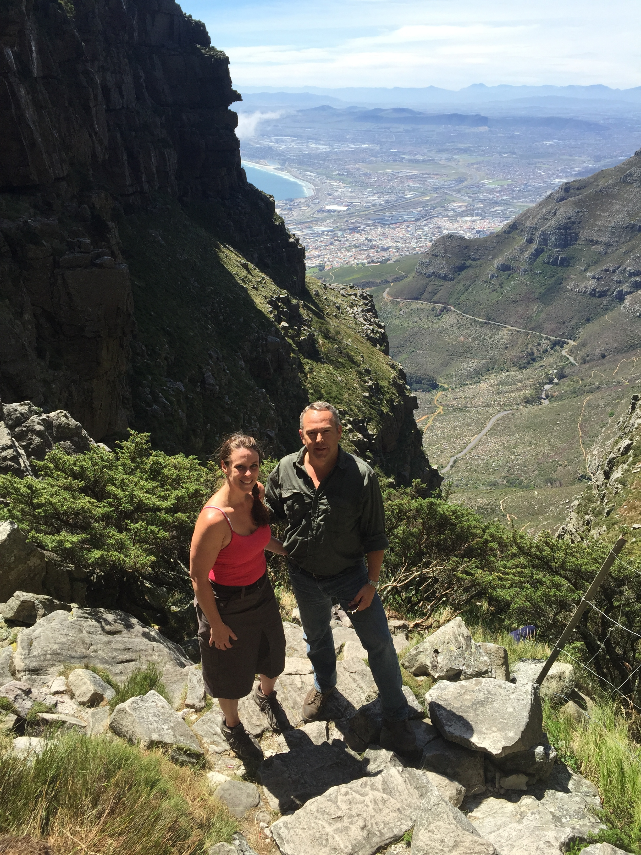 This is us. - Climbing Table Mountain near Cape Town, RSA