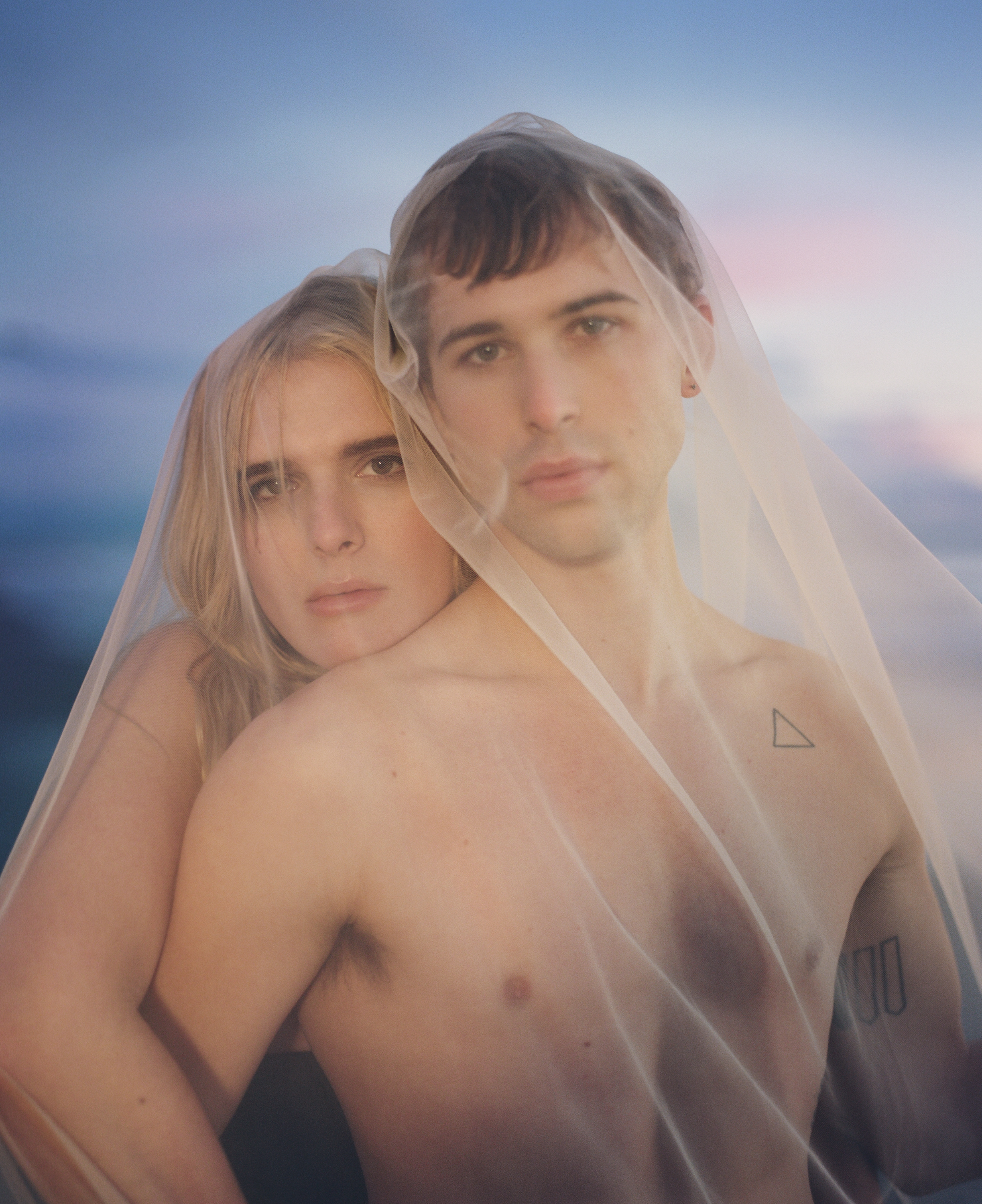 Hari Nef & Tommy Dorfman, OUT magazine cover, 2019