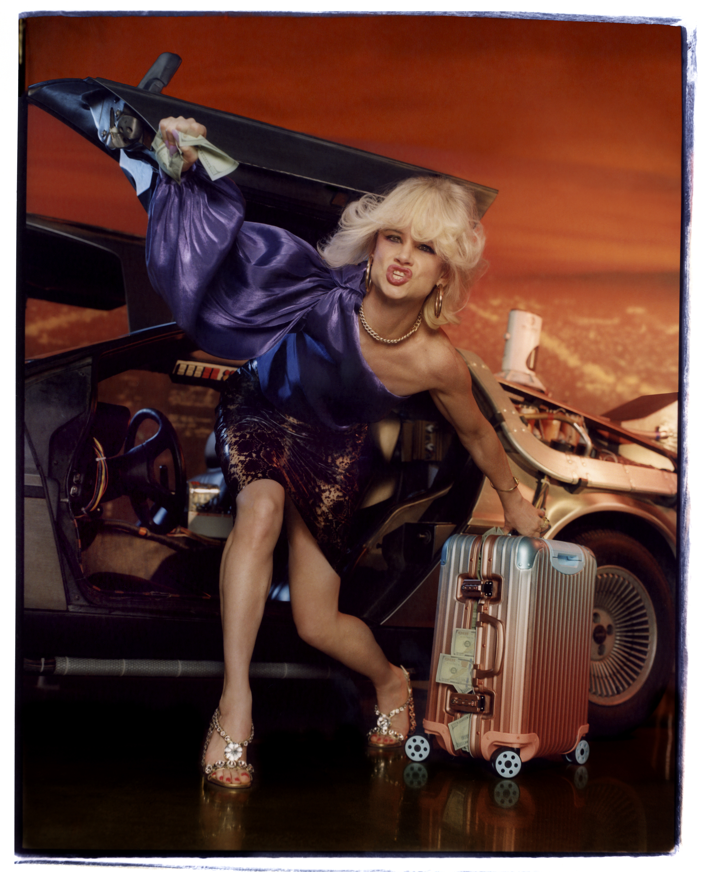 Juliette Lewis for Alex Israel x Rimowa