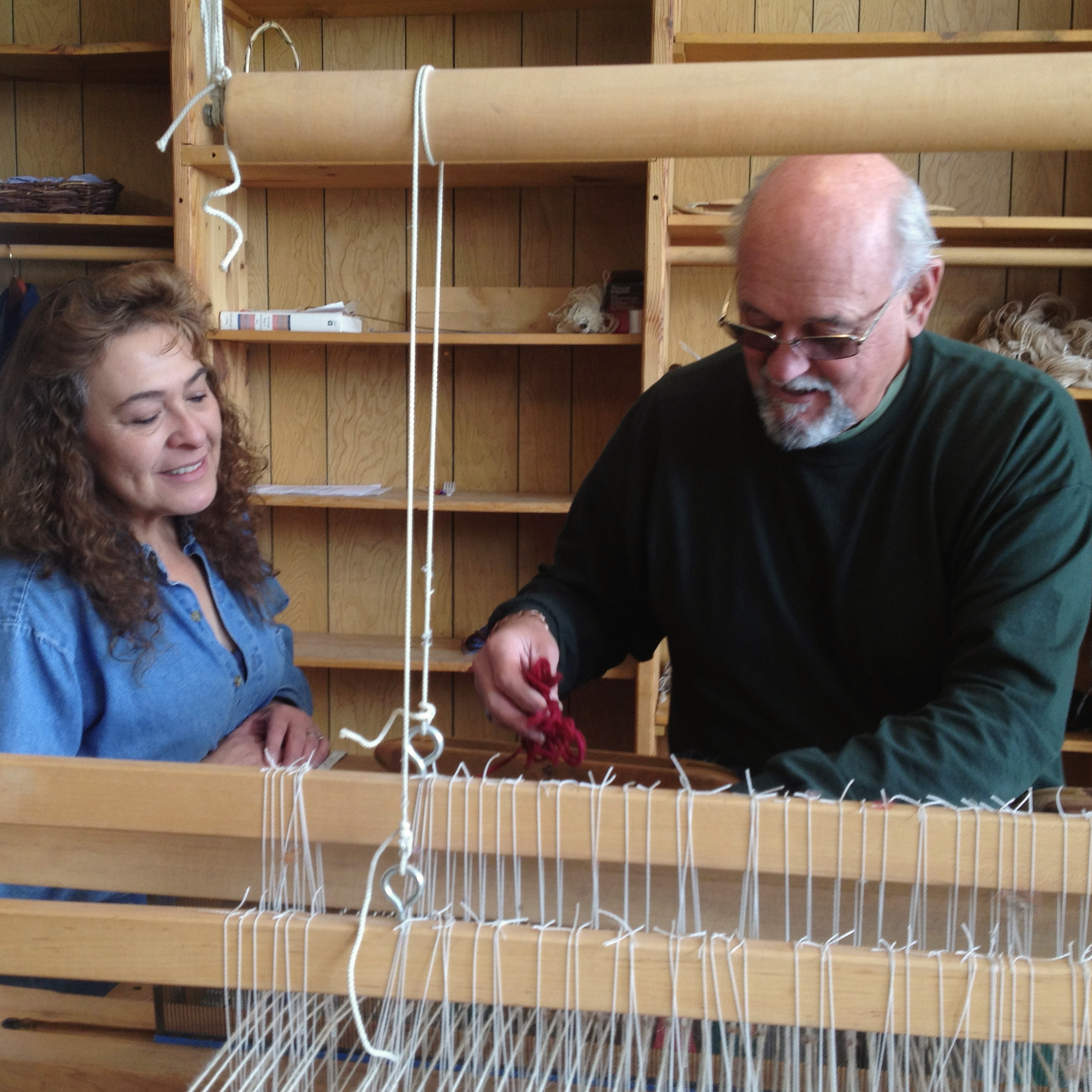 One-on-one instruction at Tierra Wools