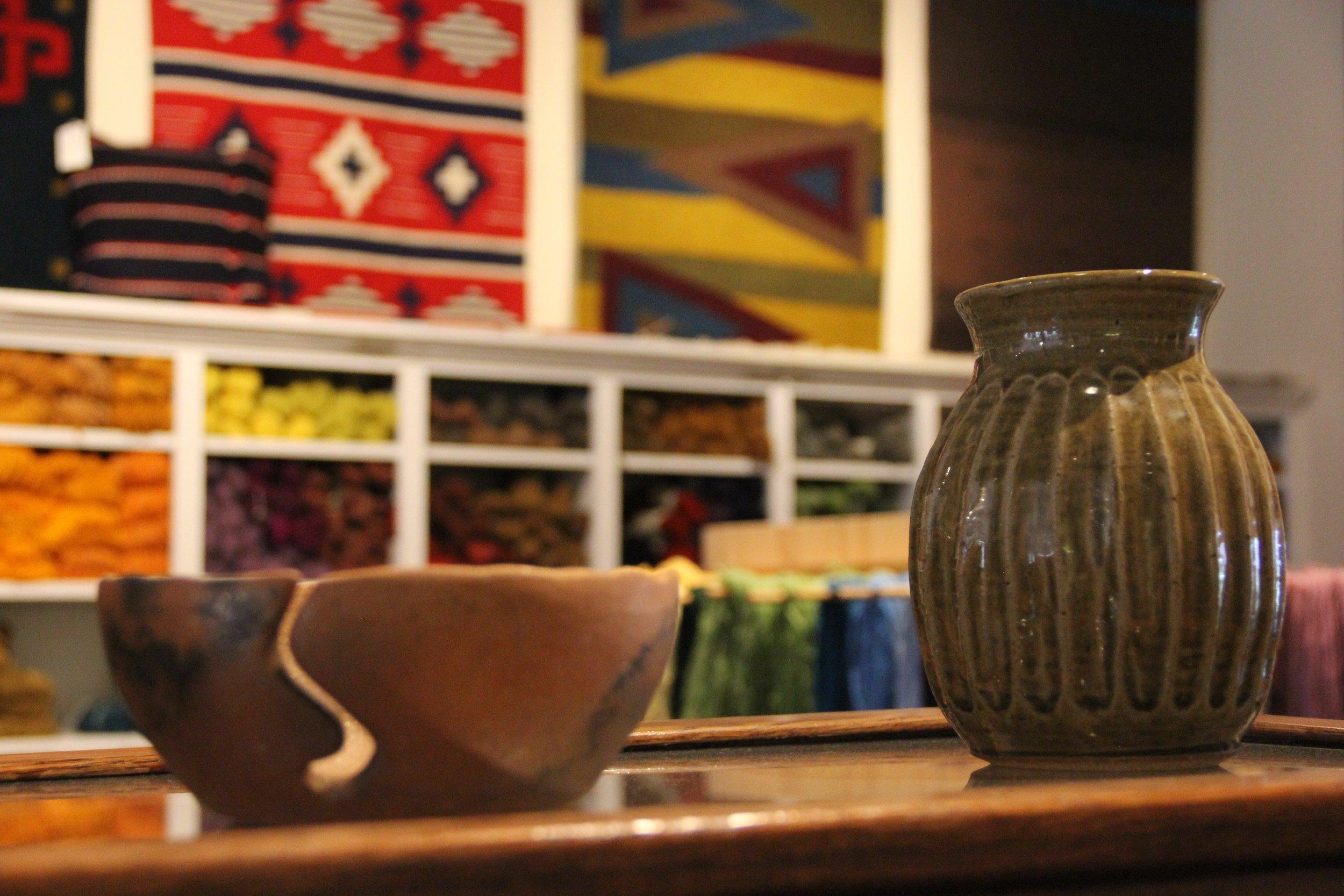 Hand-made art by local artisans