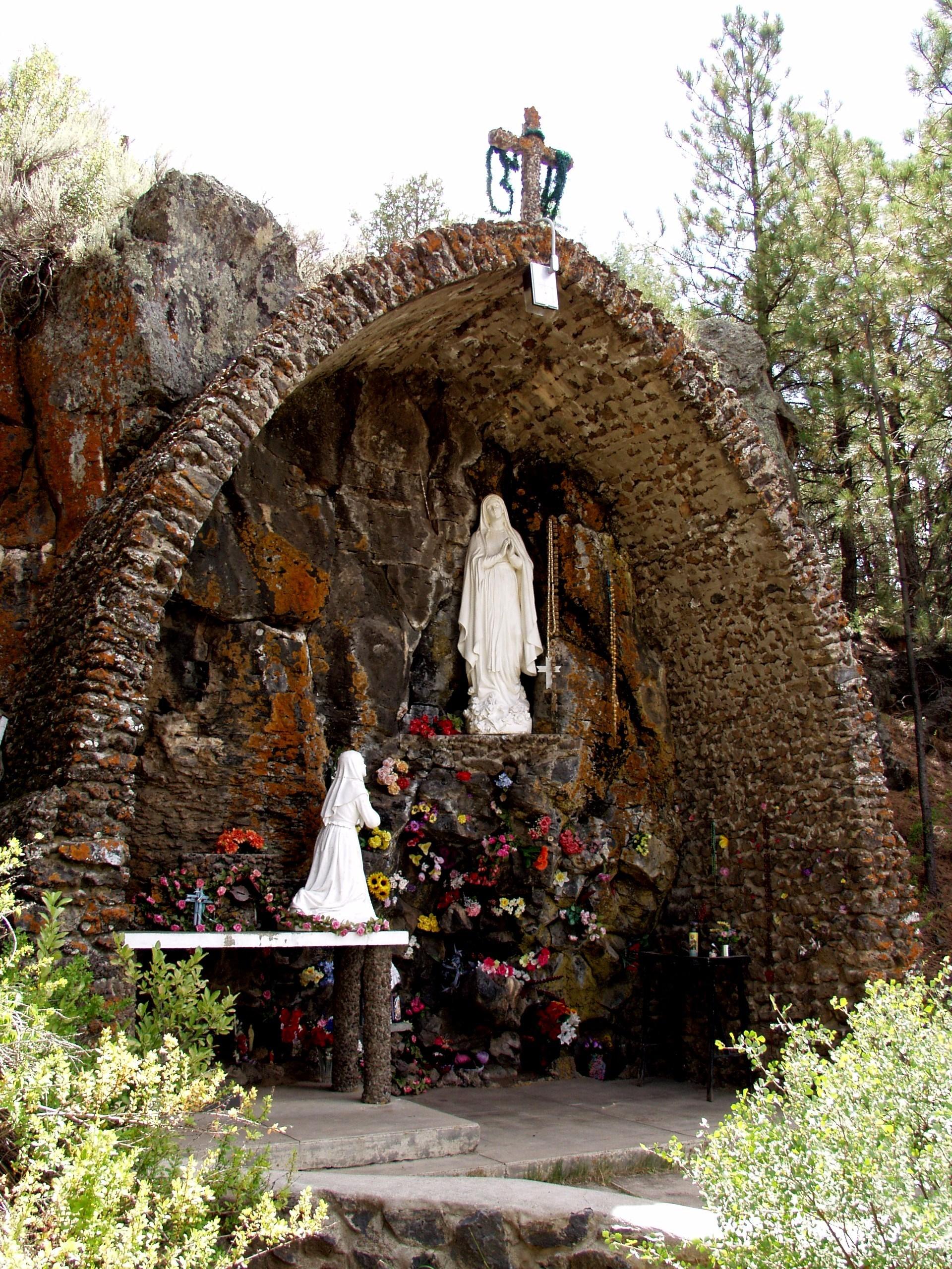The St. Bernadette Grotto in Los Ojos, NM