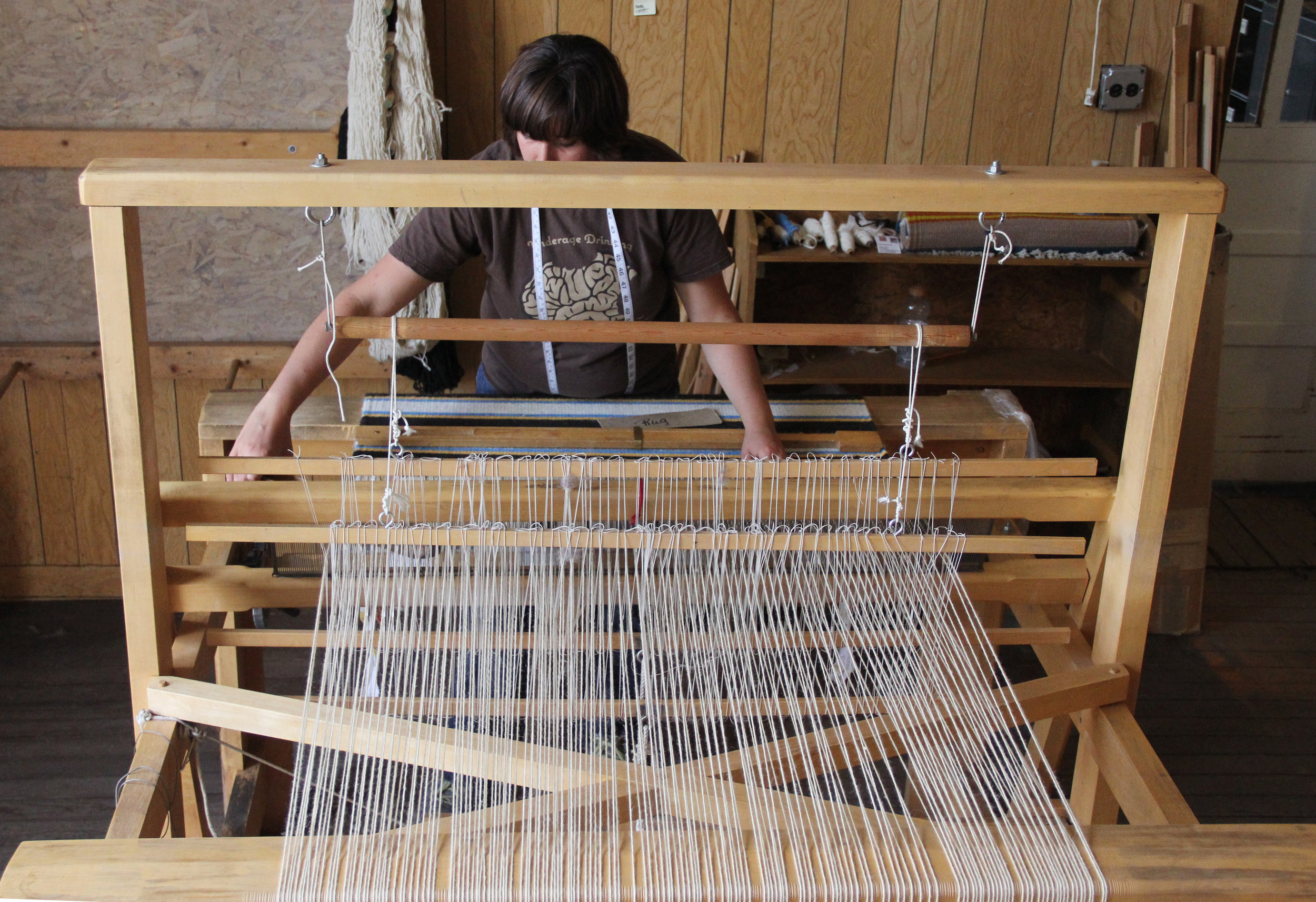 Weaving on a Hans Leitner Rio Grande Style loom