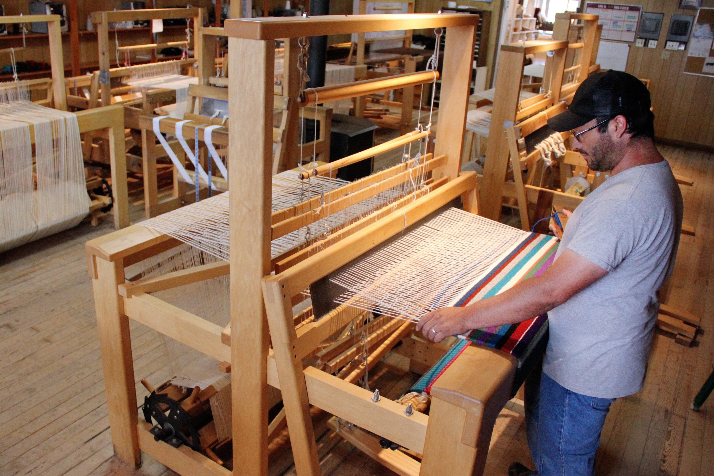 Weaving on a Hans Leitner Rio Grande Style loom