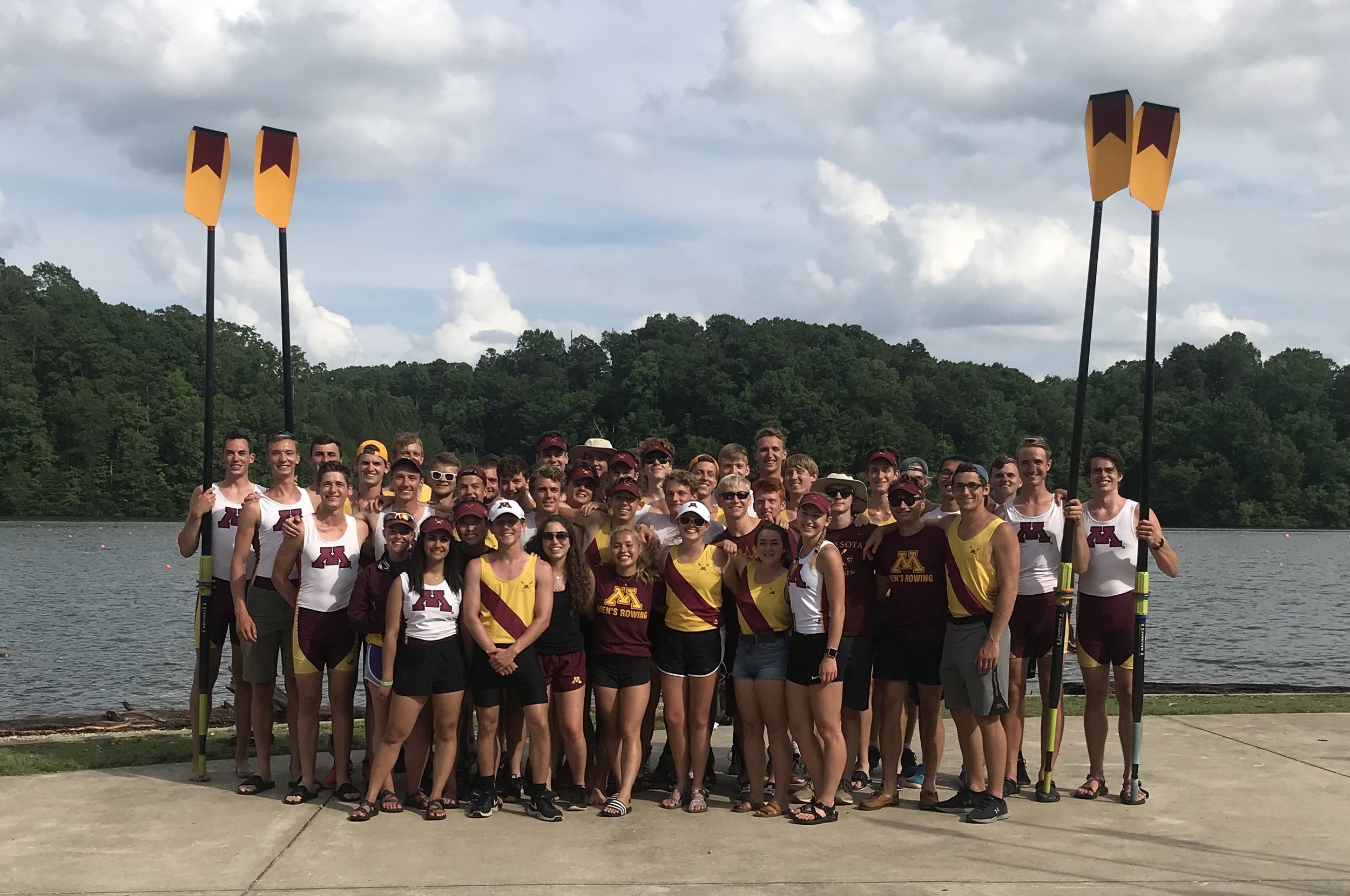 The team takes the annual roster photo in front of the grand stands at ACRA national championship