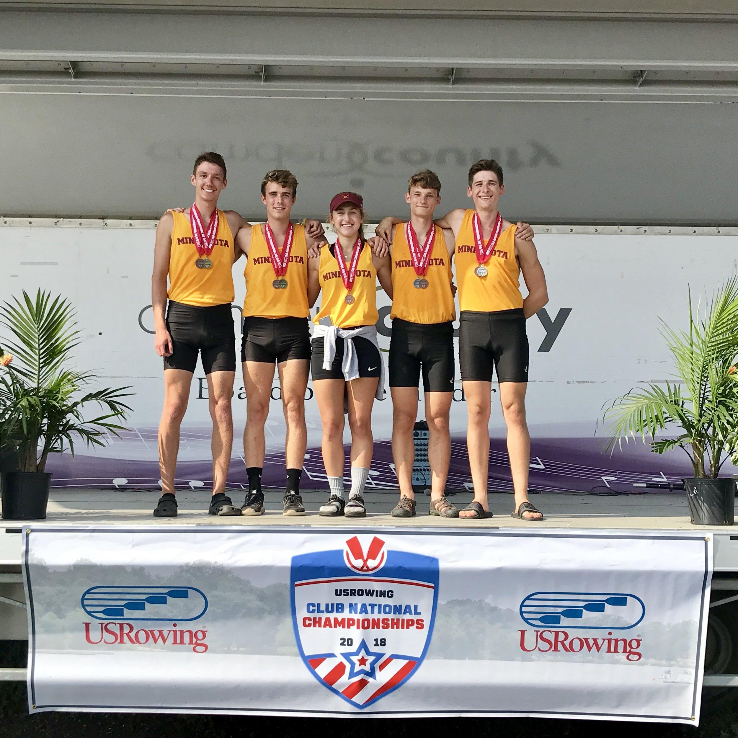 Left to right: Connor Lund ('18), Alexander Martin ('18), Recebba Sedivy ('20), Sean Tardrew ('20), Keiran Peers ('21)