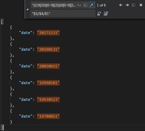The file in Visual Studio Code before ...