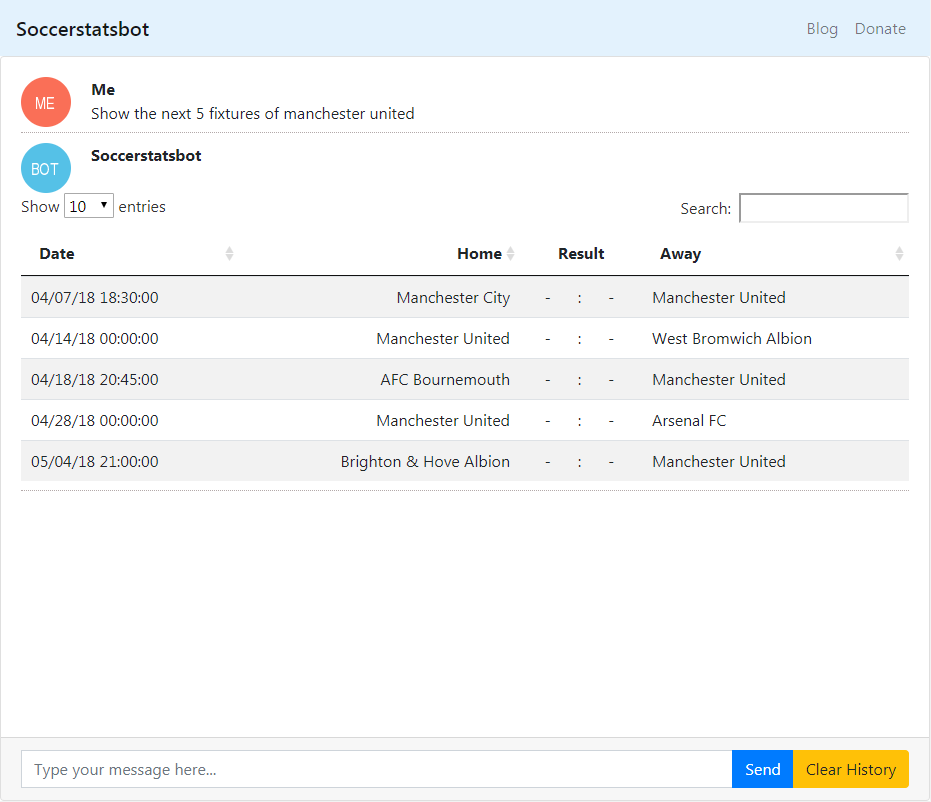 You can also query past fixtures and search for multiple teams