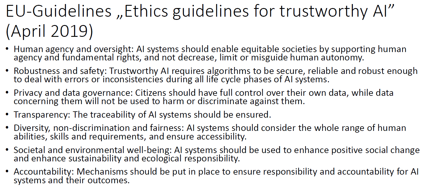 """EUGuidelines """" Ethics guidelines for trustworthy AI"""""""