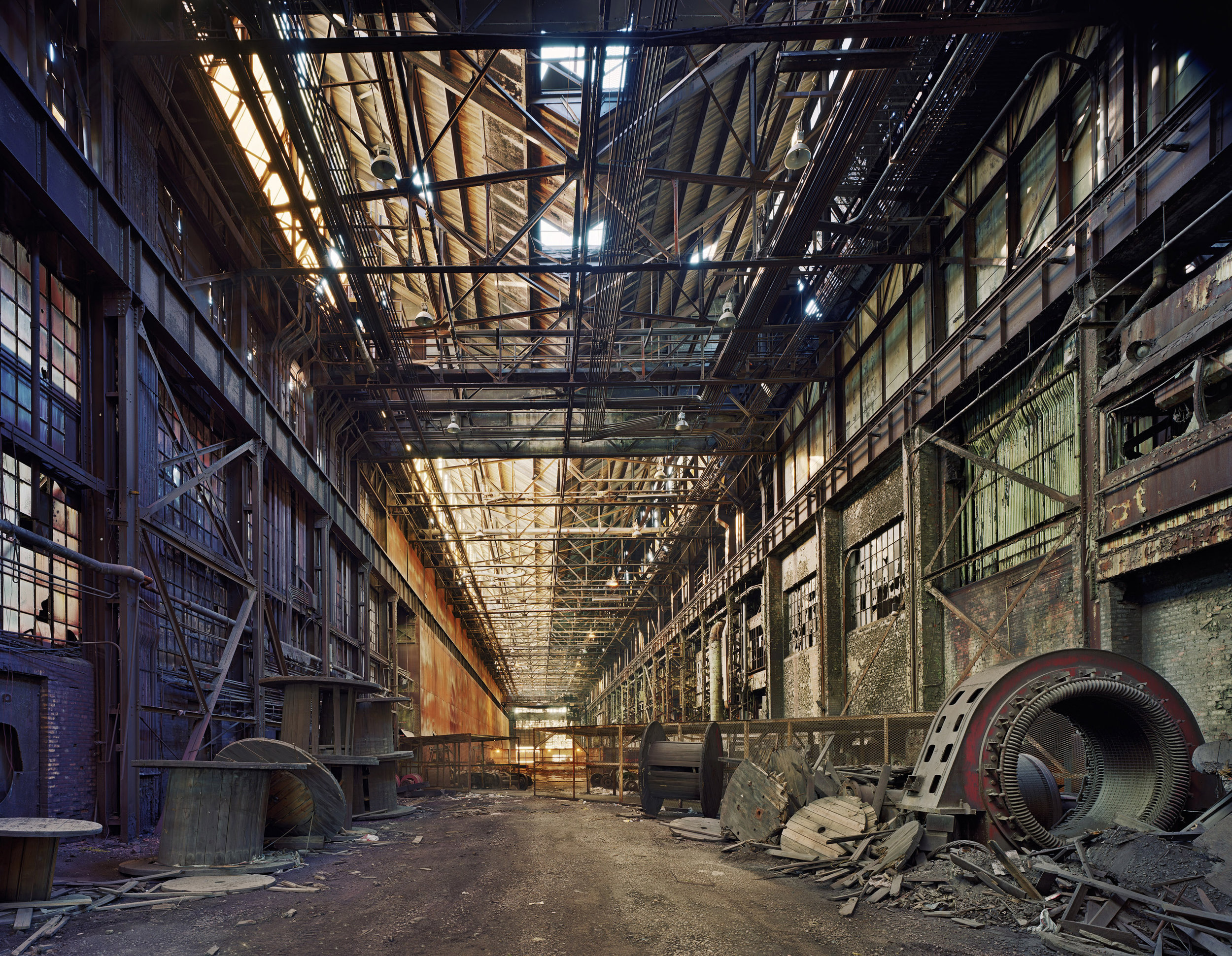Rolling hall, Ford Motor Company river rouge complex - Color chromogenic printSigned edition of 5, printed 2015Sheet 51 x 61 cm, Image 43 x 53 cm (16.8 x 21.0 inches)$5500