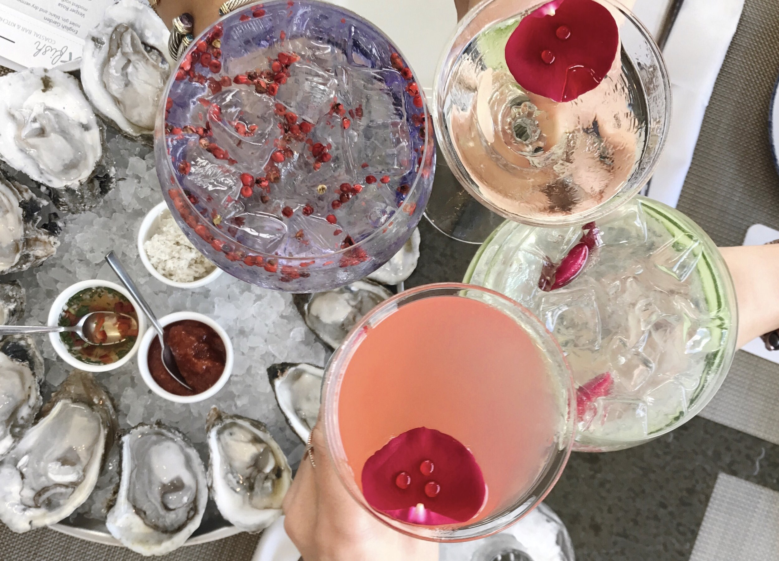 These pretty cocktails are a must for any girls night.