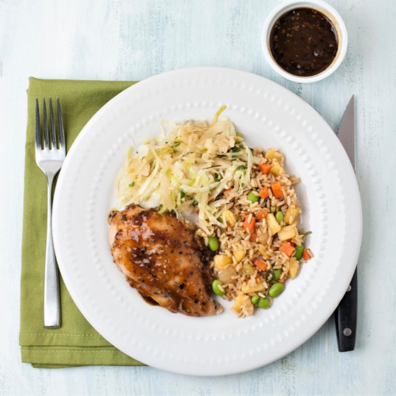 The Foodery - Teriyaki Glazed Chicken, Pineapple Rice and Ginger Cabbage