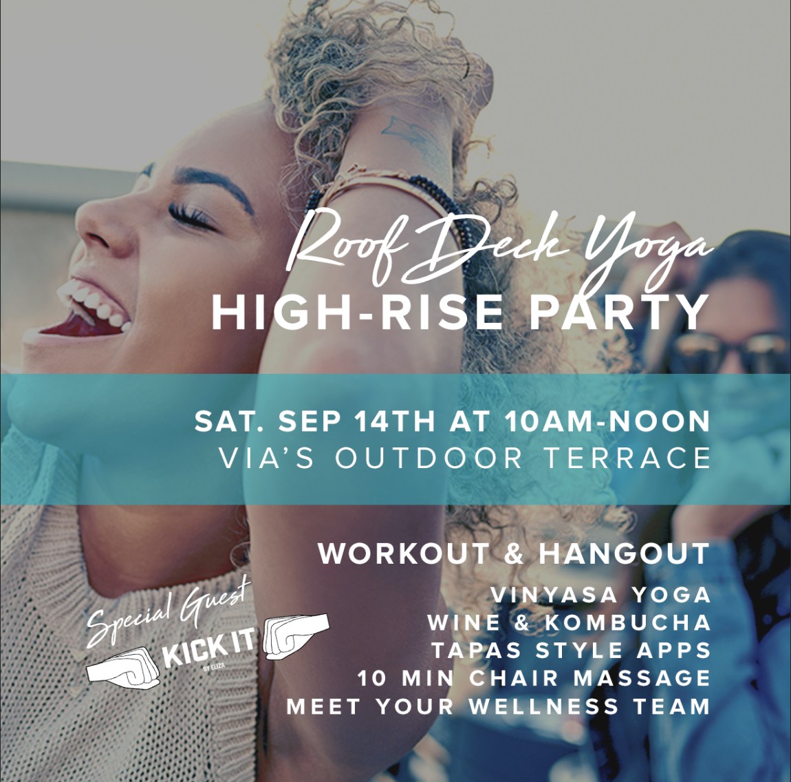 Roof Deck Yoga - High-Rise Party at VIA