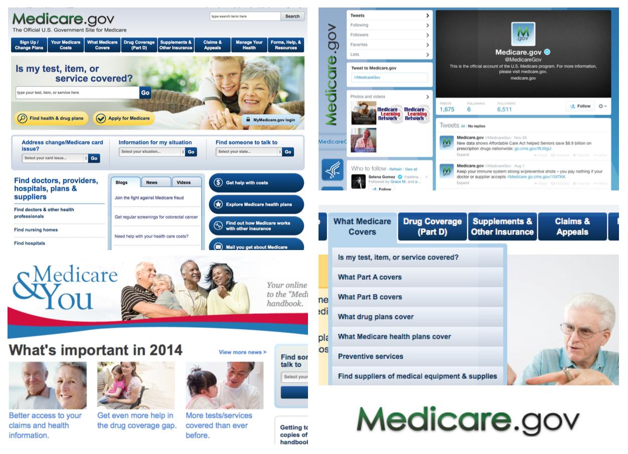 Visual audit of Medicare websites and social media