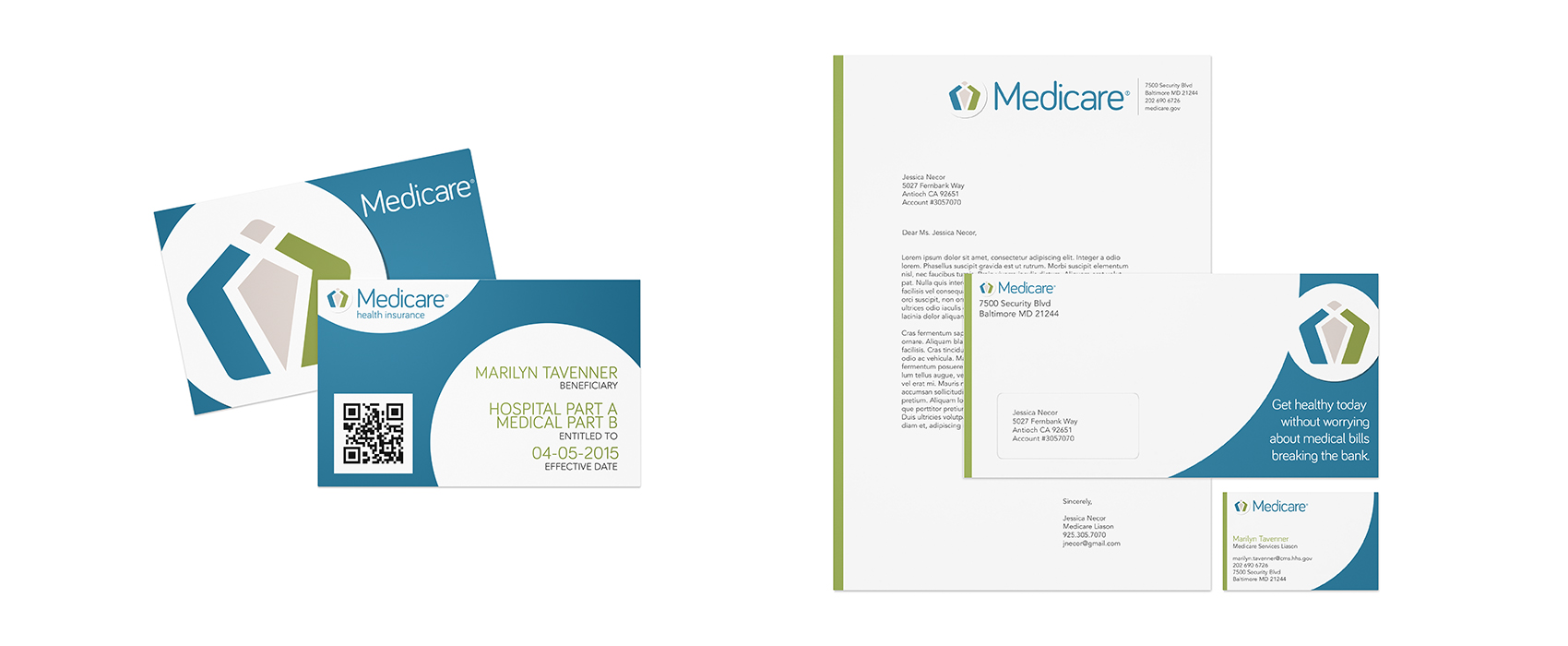 Beneficiary cards and stationery