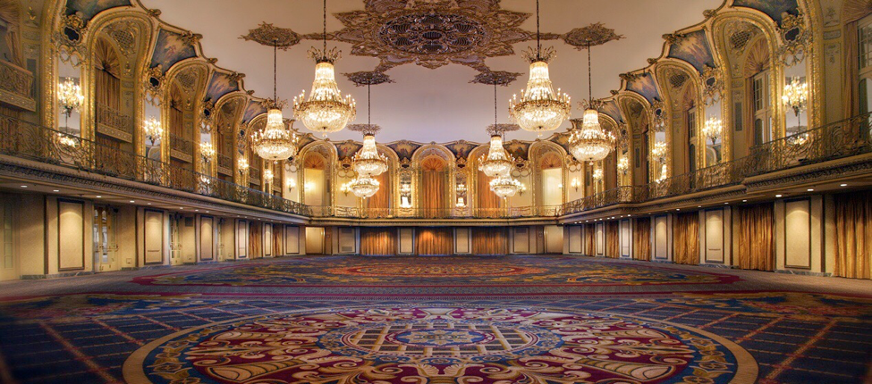 The Hotel Stevens Grand Ballroom [now known as the Hilton Chicago].